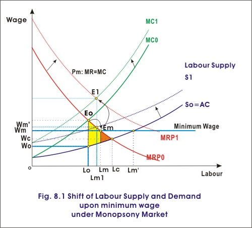 monopsony reaction to min wage